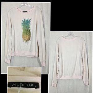 Wildfox piling Pineapple jumper sweater Sz M